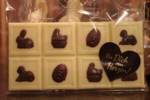 Ostertafel weiße Schokolade